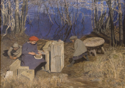 I lekstugan målning av Maja Fjaestad 1908